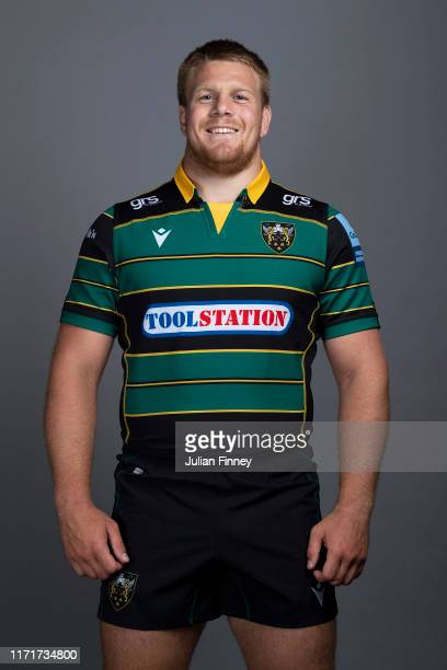 Paul Hill of Northampton Saints poses for a portrait during the Northampton Saints squad photocall for the 20192020 Gallagher Premiership Rugby...