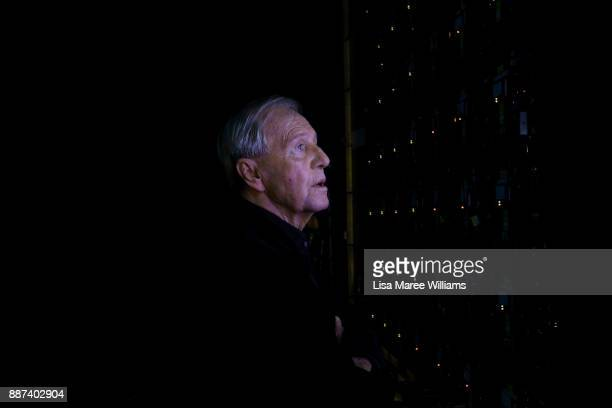 Paul Hogan looks at a screen backstage during the 7th AACTA Awards Presented by Foxtel at The Star on December 6 2017 in Sydney Australia