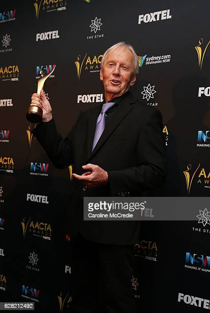 Paul Hogan poses in the media room after winning the AACTA Longford Lyell Award at the 6th AACTA Awards Presented by Foxtel at The Star on December 7...
