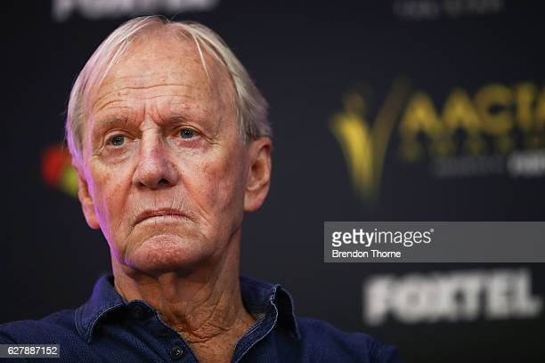 Paul Hogan speaks after being announced as the 2016 AACTA Longford Lyell Award recipient at Dawes Point Park on December 6 2016 in Sydney Australia