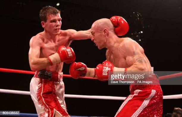 Paul Holborn and Ben Murphy during their Lightweight fight at the Seaburn Centre, Sunderland