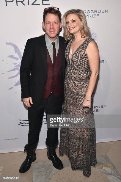 Paul Holdengraber and Rachel Bauch attend the Berggruen Prize Gala at the New York Public Library on December 14 2017 in New York City