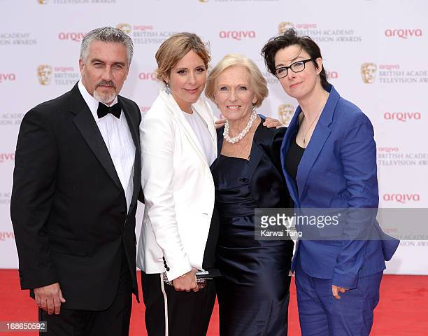 Paul Hollywood Mel Giedroyc Mary Berry and Sue Perkins attends the Arqiva British Academy Television Awards 2013 at the Royal Festival Hall on May 12...