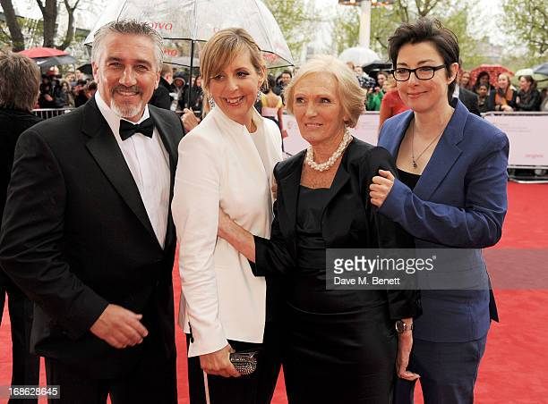 Paul Hollywood Mel Giedroyc Mary Berry and Sue Perkins of 'The Great British Bake Off' attend the Arqiva British Academy Television Awards 2013 at...