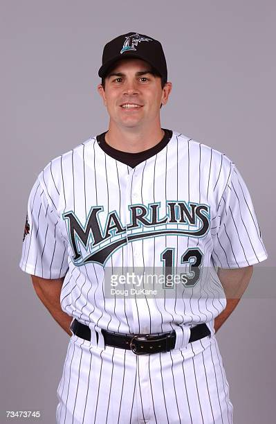 Paul Hoover of the Florida Marlins poses during photo day at Roger Dean Stadium on February 23 2007 in Jupiter Florida