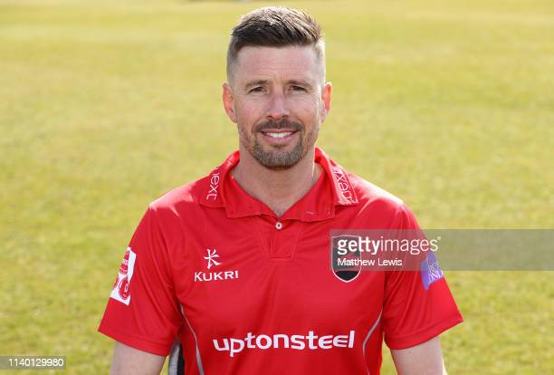 Paul Horton Club Captain of Leicestershire CCC pictured during the Leicestershire CCC Photocall at Grace Road on April 03 2019 in Leicester England