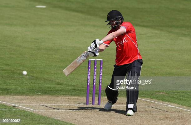 Paul Horton of Leicestershire cuts the ball for four runs during the Royal London OneDay Cup match between Northamptonshire and Leicestershire at The...