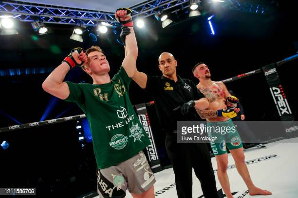 Paul Hughes is awarded the win over Youri Panada during Cage Warriors 112 on March 7 2020 in Manchester England