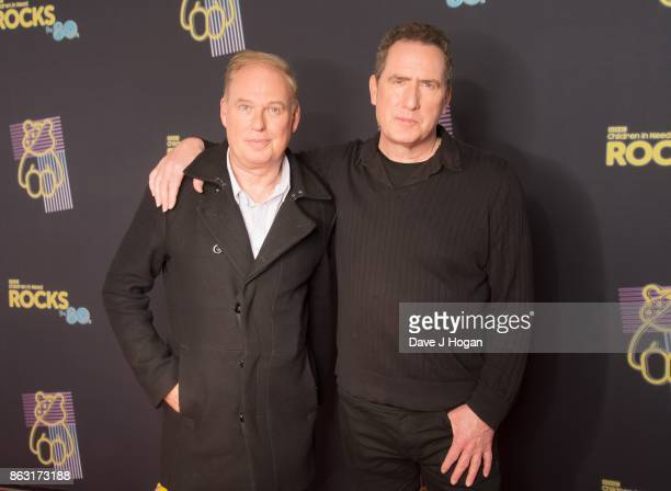 Paul Humphreys and Andy McCluskey of IMD is pictured at BBC Children in Need Rocks the 80s at SSE Arena on October 19, 2017 in London, England.
