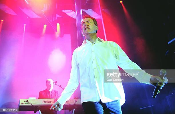 Paul Humphreys and Andy McCluskey of OMD perform on stage at The Roundhouse on May 3 2013 in London England