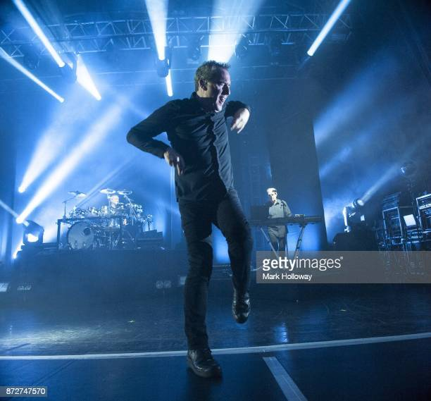 Paul HumphreysAndy McCluskeyMartin Cooper of OMD perform at O2 Guildhall on November 10 2017 in Southampton England