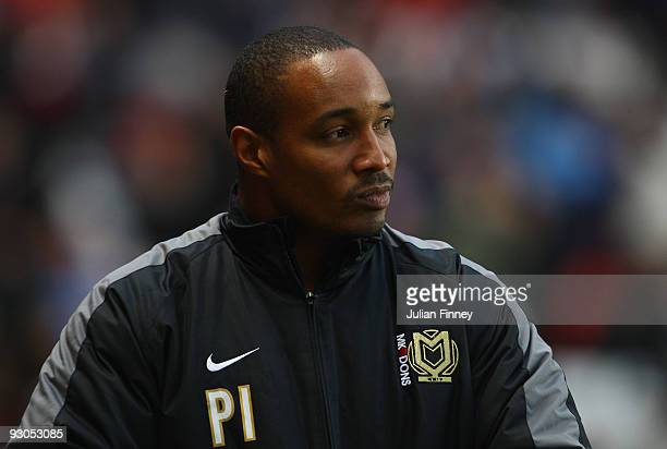 Paul Ince manager of MK Dons looks on before the CocaCola League One match between Charlton Athletic and MK Dons at The Valley on November 14 2009 in...