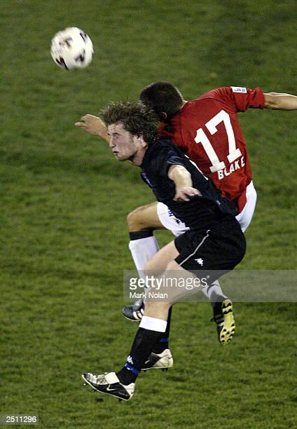 Paul Ivanic of Sydney United in action during the opening round of the 2003 NSL season between the Wollongong Wolves and Sydney United at WIN Stadium...