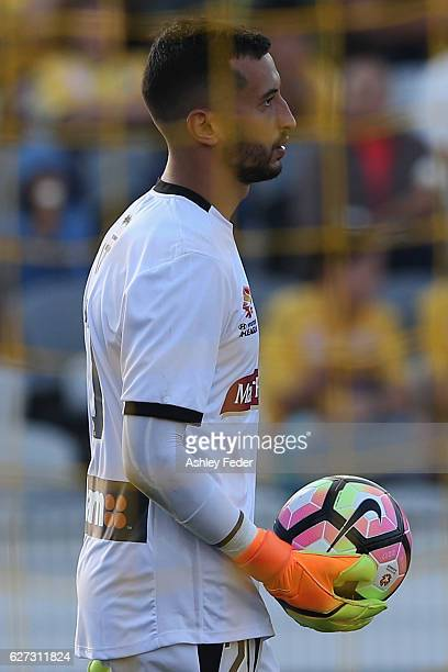 Paul Izzo of the Mariners looks dejected after conceding a goal during the round nine ALeague match between Central Coast Mariners and the Western...