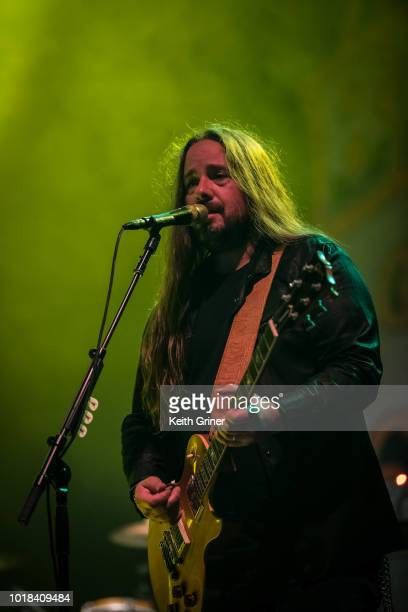 Paul Jackson of Blackberry Smoke performs at The Lawn at White River State Park on August 12 2018 in Indianapolis Indiana