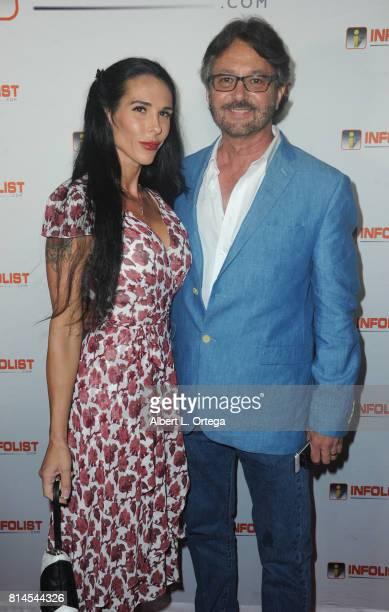 Paul Jackson of Hallmark and assistant Sarah Mercadante attend Jeff Gund's INFOLISTcom's Annual PreComicCon Party held at OHM Nightclub on July 13...