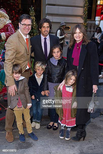 Paul James Alex James Artemio Figueras polo player Nacho Figueras Aurora Figuera Delfina Blaquier May Rose Nivola and actress Emily Mortimer attend...