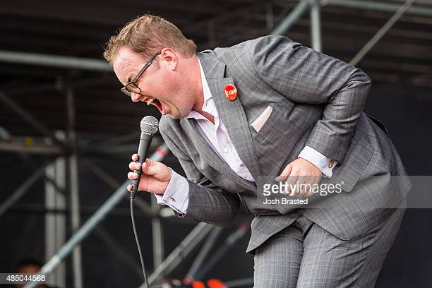 Paul Janeway of St Paul and the Broken Bones performs at Outside Lands Music Arts Festival at Golden Gate Park on August 9 2015 in San Francisco...