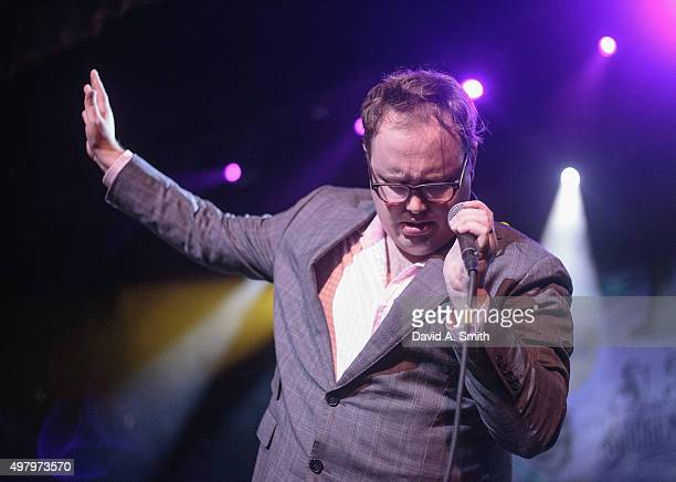 Paul Janeway of St Paul and The Broken Bones performs at The Alabama Theatre on November 19 2015 in Birmingham Alabama
