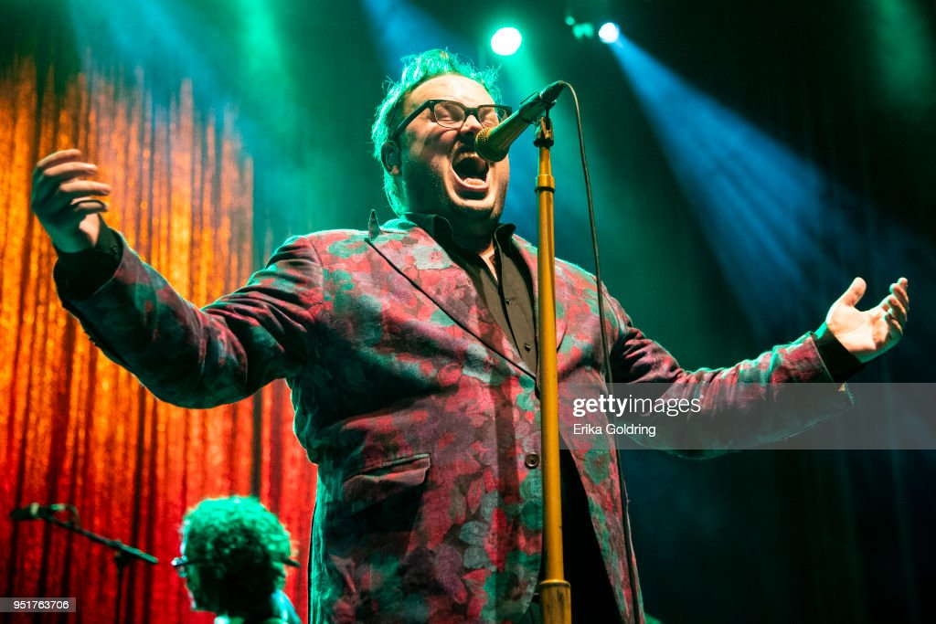 Paul Janeway of St. Paul and The Broken Bones performs at The Joy Theater on April 26, 2018 in New Orleans, Louisiana.