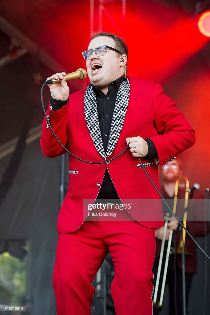 Paul Janeway of St. Paul and the Broken Bones performs at Zilker Park on October 9, 2016 in Austin, Texas.