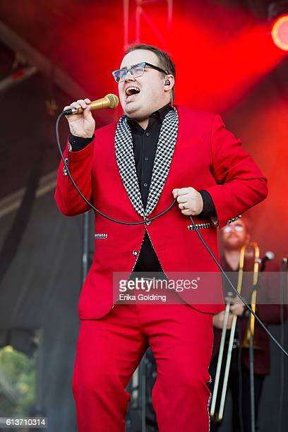 Paul Janeway of St Paul and the Broken Bones performs at Zilker Park on October 9 2016 in Austin Texas