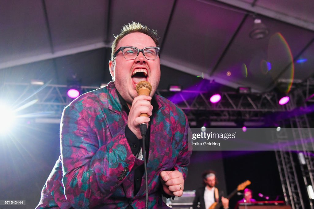 Paul Janeway of St. Paul and The Broken Bones performs during Bonnaroo Music & Arts Festival on June 10, 2018, in Manchester, Tennessee.
