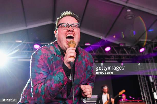 Paul Janeway of St Paul and The Broken Bones performs during Bonnaroo Music Arts Festival on June 10 in Manchester Tennessee