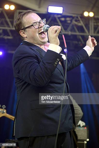 Paul Janeway of St Paul and the Broken Bones performs during the 2014 Bonnaroo Music Arts Festival on June 13 2014 in Manchester Tennessee