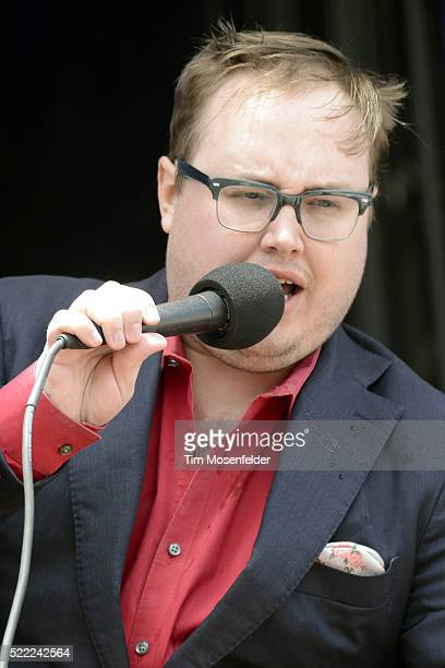 Paul Janeway of St Paul and the Broken Bones performs during the Tortuga Music Festival on April 17 2016 in Fort Lauderdale Florida