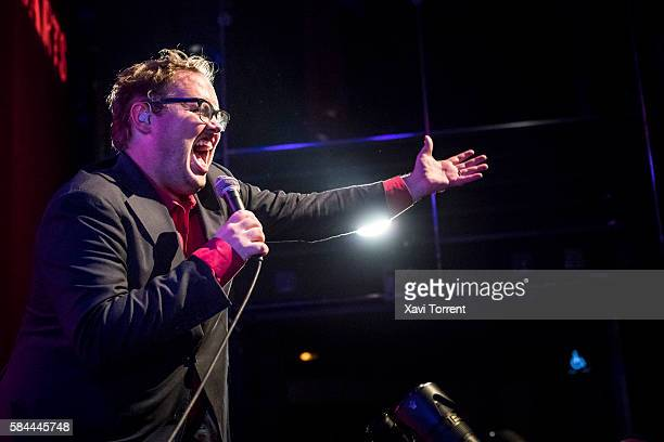 Paul Janeway of St Paul And The Broken Bones performs on stage at sala Barts during Grec Festival 2016 on July 28 2016 in Barcelona Spain