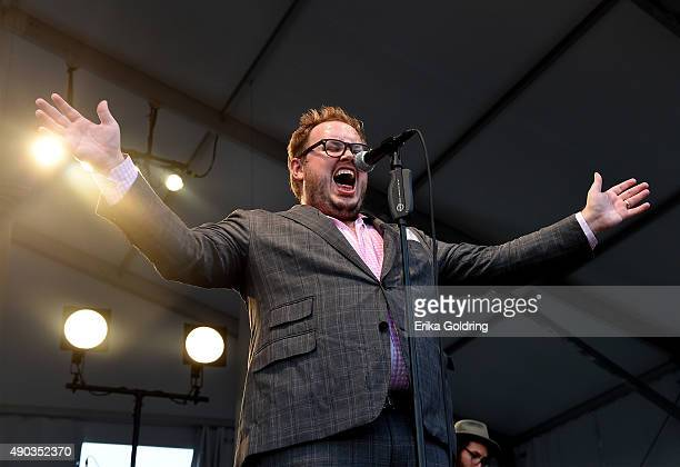 Paul Janeway of St Paul and The Broken Bones performs onstage during Pilgrimage Music Cultural Festival on September 27 2015 in Franklin Tennessee