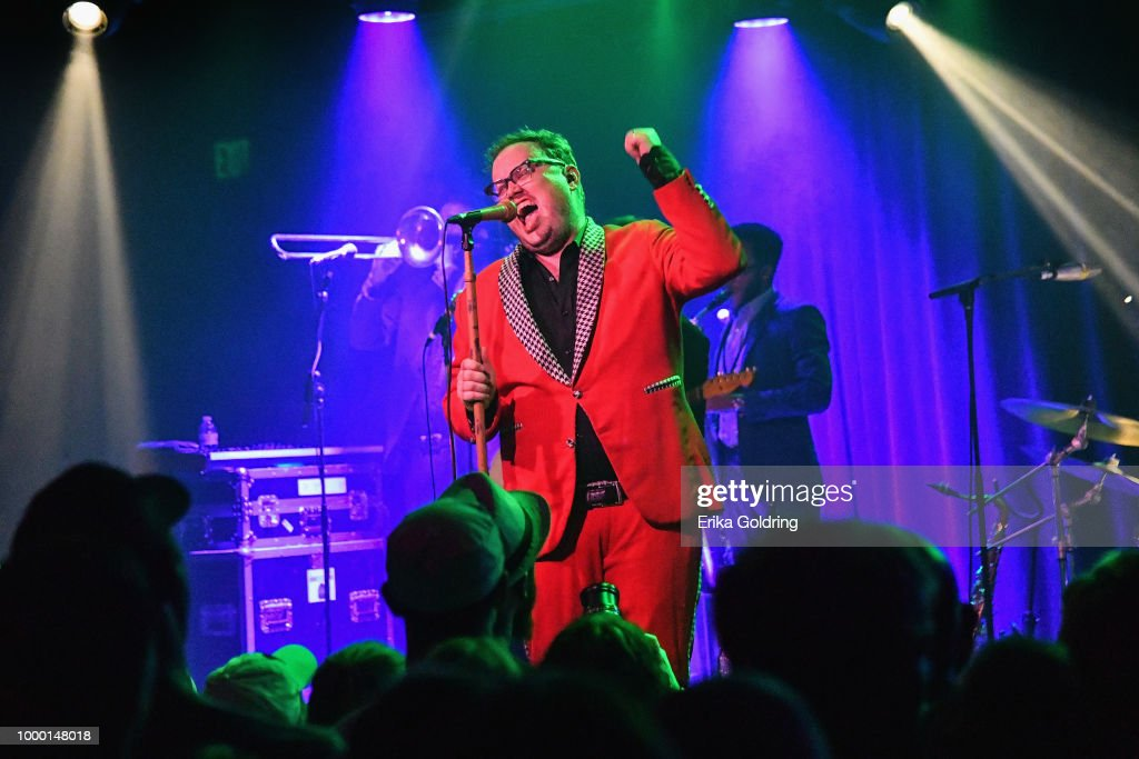 Paul Janeway of St. Paul & The Broken Bones peforms at Saturn during Sloss Music & Arts Festival on July 15, 2018 in Birmingham, Alabama. The show was scheduled to take place on the festival grounds at Sloss Furnace but was cancelled due to weather.