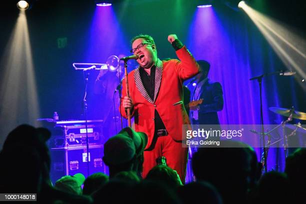 Paul Janeway of St Paul The Broken Bones peforms at Saturn during Sloss Music Arts Festival on July 15 2018 in Birmingham Alabama The show was...