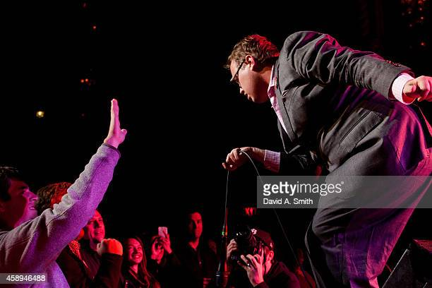 Paul Janeway of St Paul The Broken Bones performs at Alabama Theatre on November 13 2014 in Birmingham Alabama