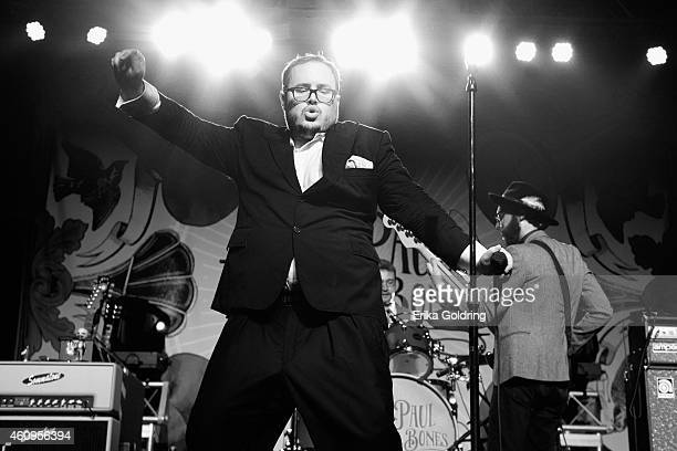 Paul Janeway of St Paul The Broken Bones performs at Marathon Music Works on December 31 2014 in Nashville Tennessee