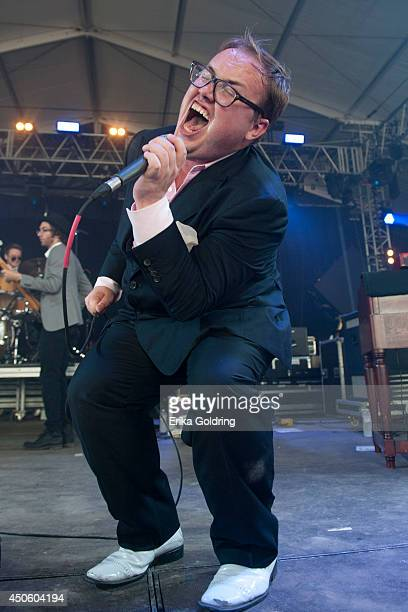 Paul Janeway of St Paul The Broken Bones performs during the 2014 Bonnaroo Music Arts Festival on June 13 2014 in Manchester Tennessee