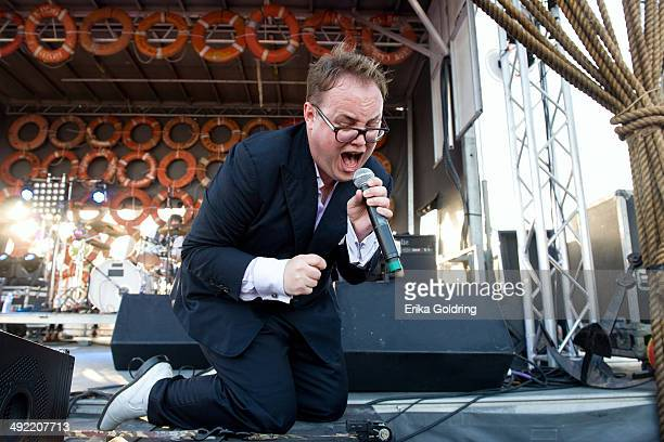 Paul Janeway of St Paul The Broken Bones performs during the 2014 Hangout Music Festival on May 18 2014 in Gulf Shores Alabama
