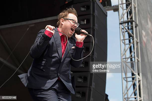 Paul Janeway of St Paul The Broken Bones performs on April 17 2016 in Fort Lauderdale Florida