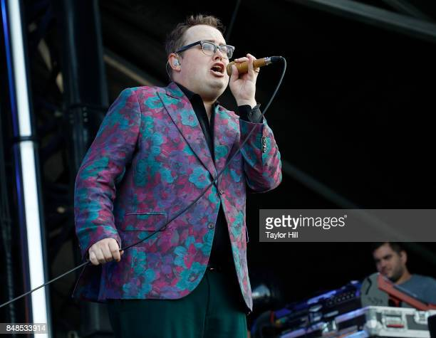 Paul Janeway of St Paul The Broken Bones performs onstage during Day 3 at The Meadows Music Arts Festival at Citi Field on September 17 2017 in New...