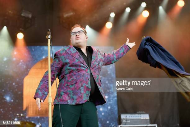 Paul Janeway of St Paul The Broken Bones performs onstage during the Meadows Music and Arts Festival Day 3 at Citi Field on September 17 2017 in New...