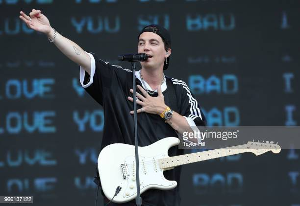 Paul Jason Klein of LANY performs onstage during Day 2 of 2018 Governors Ball Music Festival at Randall's Island on June 2 2018 in New York City