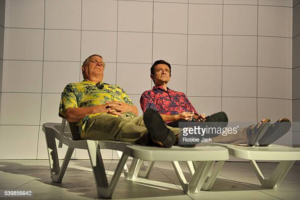Paul Jesson and Justin Salinger in Caryl Churchill's Love and Information directed by James Macdonald at the Royal Court in London