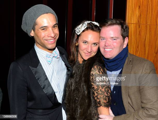 Paul Johnson Calderon Julia Weherell and Jack Yeaton attend the Tracy Reese Fall 2012 AfterParty during MercedesBenz Fashion Week at Stone Rose at...
