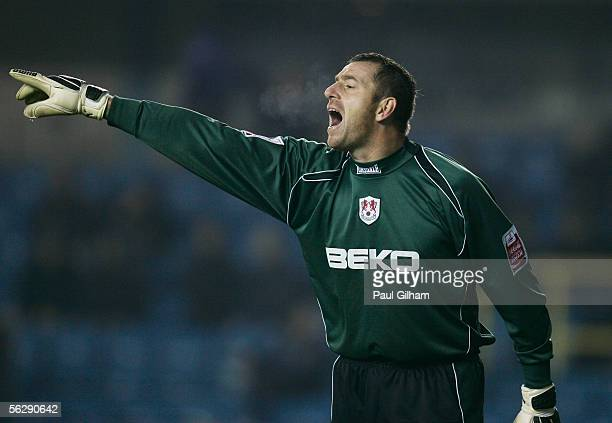 Paul Jones of Millwall in action during the CocaCola Championship match between Millwall and Norwich City at the New Den on November 22 2005 in...
