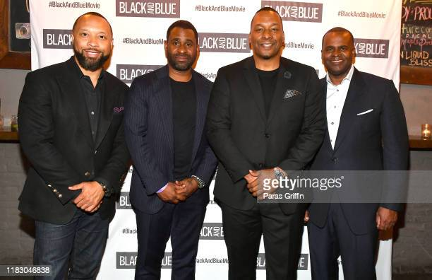 Paul Judge Ryan Glover Deon Taylor and Kasim Reed attend Black and Blue Atlanta special screening after party at Sweet Auburn BBQ on October 23 2019...