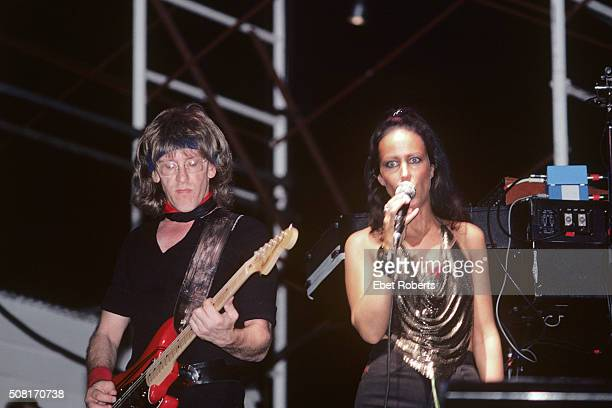 Paul Kantner and Grace Slick performing with Jefferson Starship at The Pier in New York City on June 27 1981
