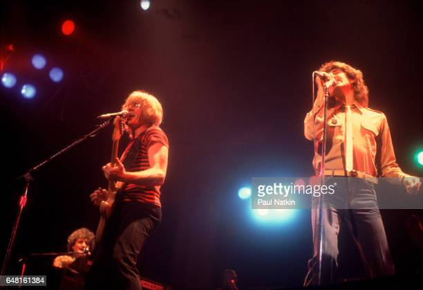 Paul Kantner and Mickey Thomas of the Jefferson Starship at the Aragon Ballroom in Chicago Illinois December 1 1979