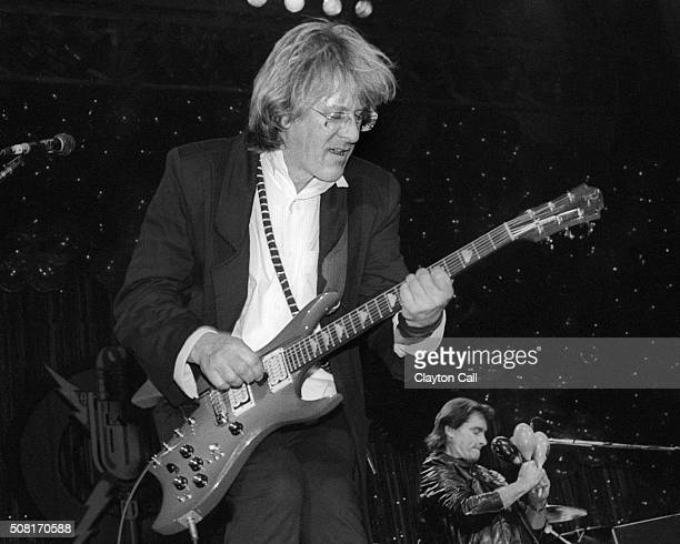 Paul Kantner performs with Jefferson Starship at the Bay Area Music Awards at the San Francisco Civic Auditorium on March 21 1987