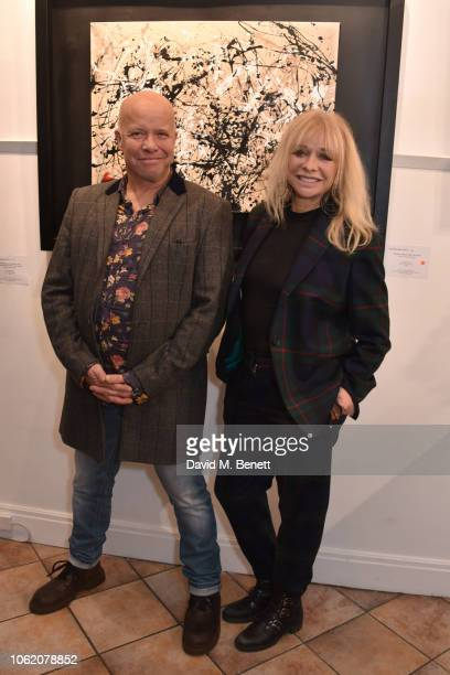 Paul Karslake and Jo Wood attend a private view of artist Paul Karslake's exhibition at The Marylebone Gallery on November 15 2018 in London England